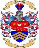 Lemaitre Family Crest from France