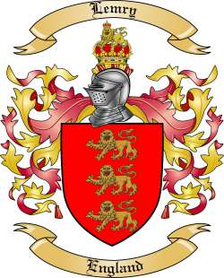 Lemry Family Coat of Arms from England