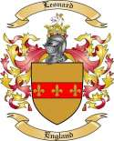 Leonard Family Coat of Arms from England