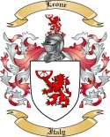 Leone Family Crest from Italy