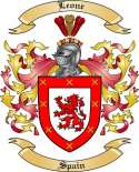 Leone Family Crest from Spain