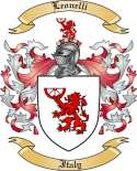 Leonelli Family Crest from Italy