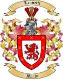 Leonetti Family Crest from Spain