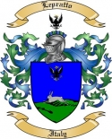 Lepratto Family Crest from Italy