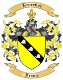 Leprevot Family Coat of Arms from France