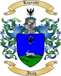 Leprotti Family Crest from Italy