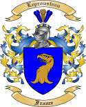 Leprousteau Family Crest from France