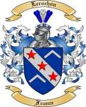 Lerochon Family Crest from France