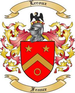 Leroux Family Crest from France
