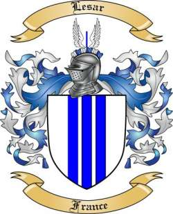 Lesar Family Coat of Arms from France