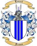 Lesart Family Crest from France