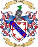 Lesley Family Coat of Arms from Scotland