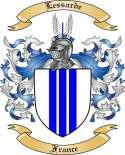 Lessarde Family Crest from France