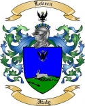 Levera Family Crest from Italy