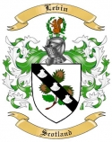 Levin Family Crest from Scotland