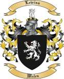 Lewiss Family Coat of Arms from Wales