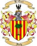 Li Cari Family Crest from Italy