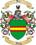 Lia Family Crest from Italy