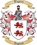 Liggens Family Coat of Arms from England