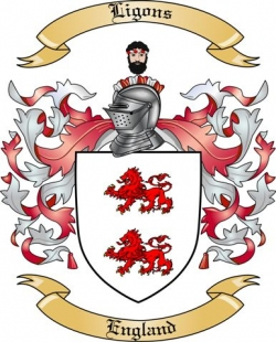 Ligons Family Crest from England
