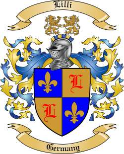 Lilli Family Coat of Arms from Germany