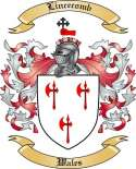 Lincecomb Family Crest from Wales