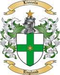Lincoln Family Coat of Arms from England