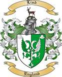 Lind Family Crest from England