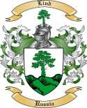 Lind Family Crest from Russia