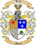 Lind Family Crest from Spain