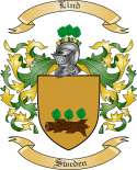 Lind Family Crest from Sweden