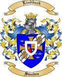 Lindback Family Crest from Sweden