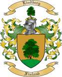 Lindberg Family Crest from Finland
