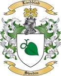 Lindblad Family Crest from Sweden
