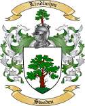 Lindbohm Family Crest from Sweden