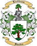 Lindboom Family Crest from Sweden