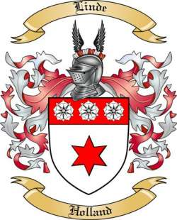 Linde Family Crest from Holland