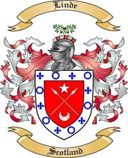 Linde Family Crest from Scotland