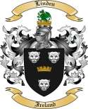 Linden Family Crest from Ireland