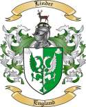 Linder Family Crest from England