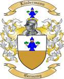 Lindermann Family Crest from Germany