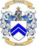 Lindgren Family Crest from Sweden