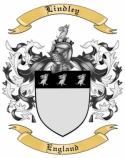 Lindley Family Crest from England