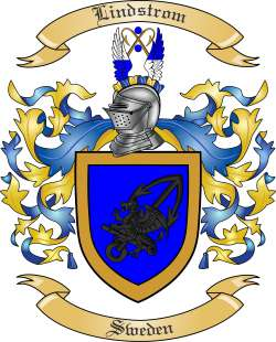 Lindstrom Family Crest from Sweden