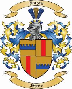 Lujan Family Coat of Arms from Spain