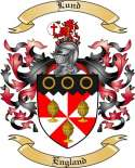 Lund Family Coat of Arms from England