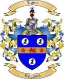 Lyon Family Coat of Arms from England