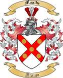 Maathe Family Coat of Arms from France