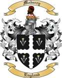 Maberry Family Coat of Arms from England