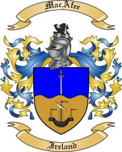 MacAfee Family Crest from Ireland